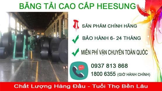 Băng tải cao su heesung sản phẩm cao cấp bảo hành trên toàn quốc
