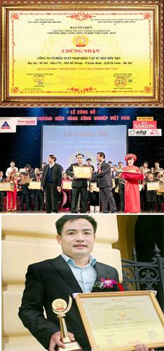 giải thưởng thương hiệu vàng băng tải cao su
