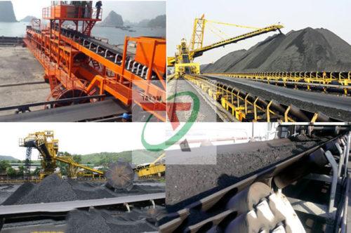 dây chuyền Băng tải cao su tải than đá tại hầm mỏ